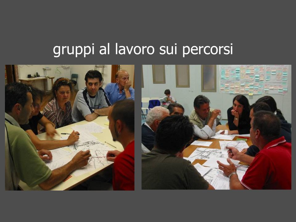 gruppi al lavoro sui percorsi