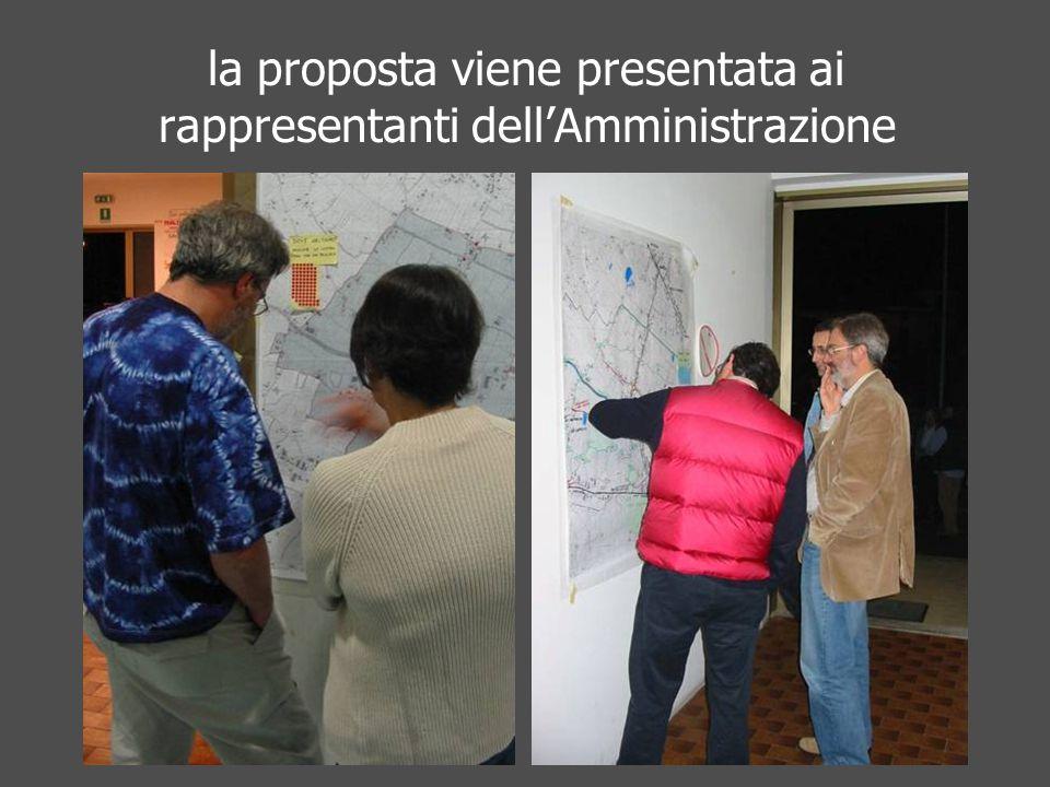 la proposta viene presentata ai rappresentanti dellAmministrazione