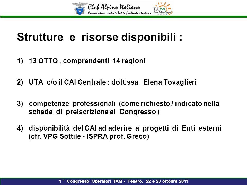 Grazie dellattenzione 1 ° Congresso Operatori TAM - Pesaro, 22 e 23 ottobre 2011 Pietralba 2008
