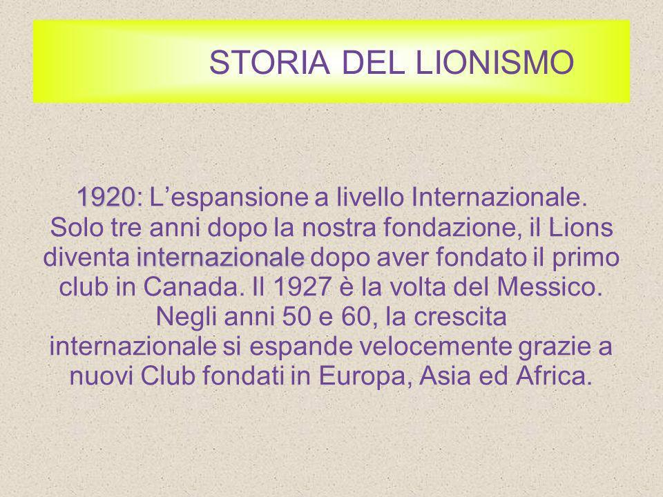 STORIA DEL LIONISMO 1925 1925: Sradicare la Cecità.