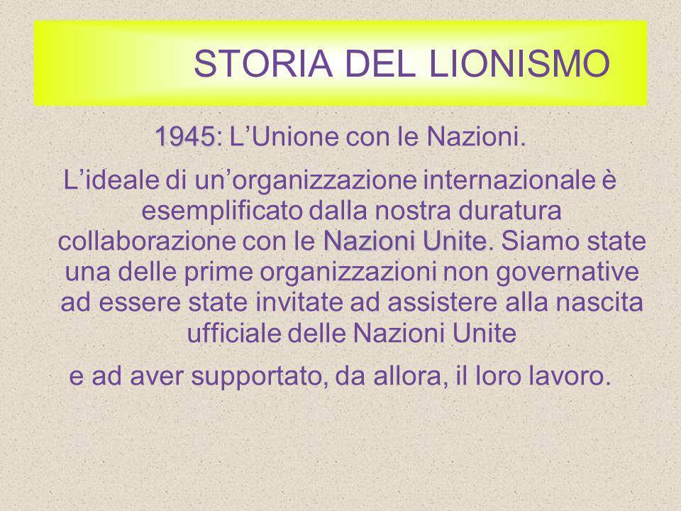 STORIA DEL LIONISMO 1957 1957: Organizzazione dei Programmi Giovanili.