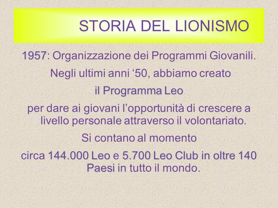 STORIA DEL LIONISMO 1968 1968: La Costituzione della Nostra Fondazione.