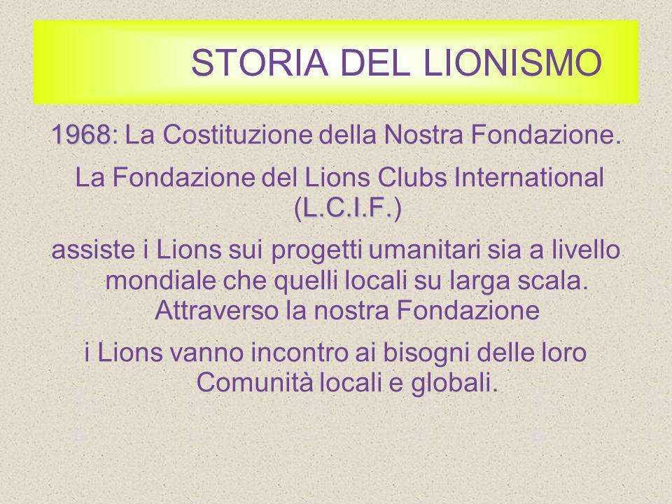 STORIA DEL LIONISMO 1990 1990: Lancio di SightFirst.