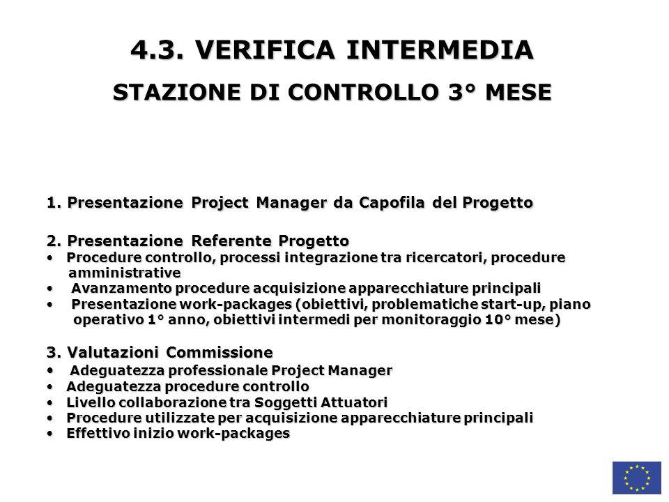 4.3.VERIFICA INTERMEDIA STAZIONE DI CONTROLLO 3° MESE 1.