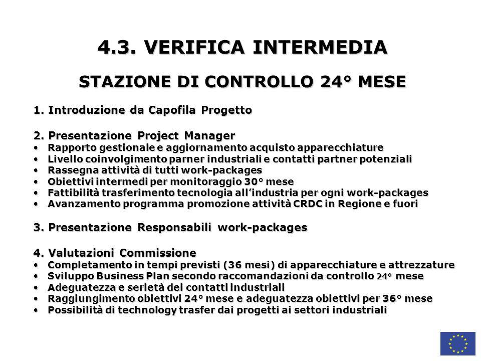 4.3.VERIFICA INTERMEDIA STAZIONE DI CONTROLLO 24° MESE 1.