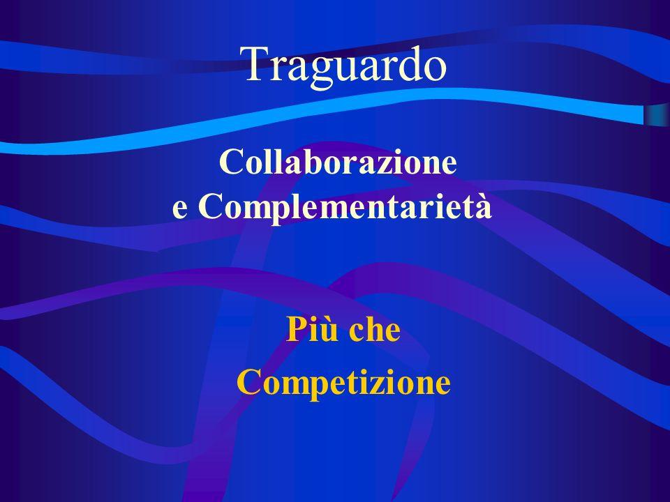 Traguardo Più che Competizione Collaborazione e Complementarietà