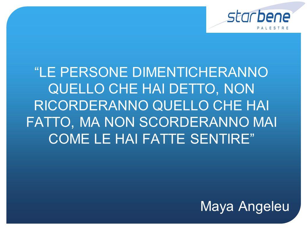 LE PERSONE DIMENTICHERANNO QUELLO CHE HAI DETTO, NON RICORDERANNO QUELLO CHE HAI FATTO, MA NON SCORDERANNO MAI COME LE HAI FATTE SENTIRE Maya Angeleu