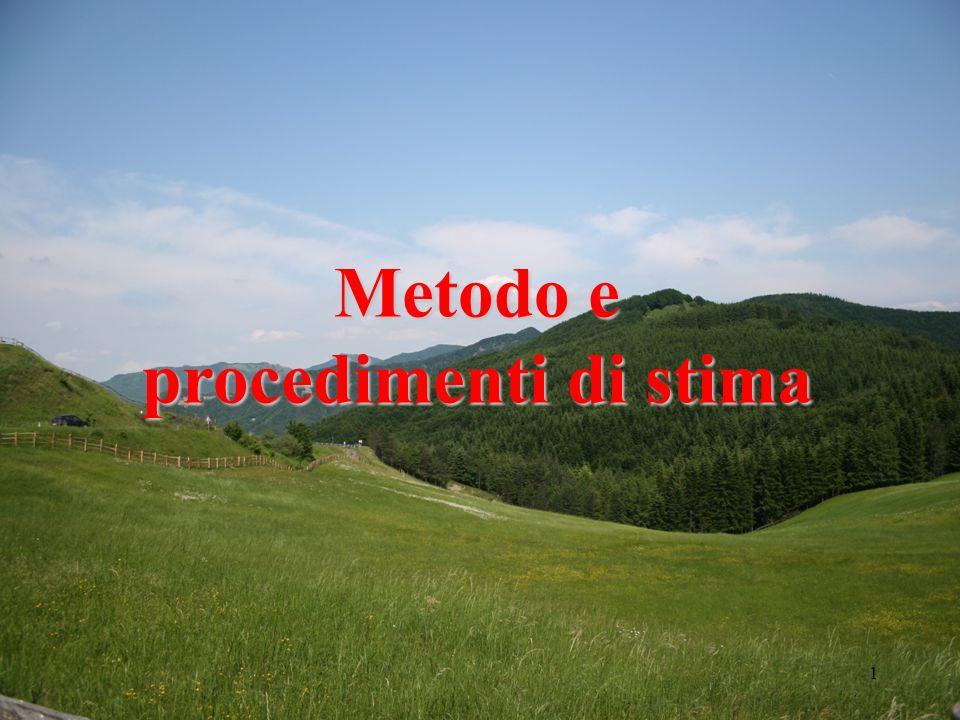 1 Metodo e procedimenti di stima