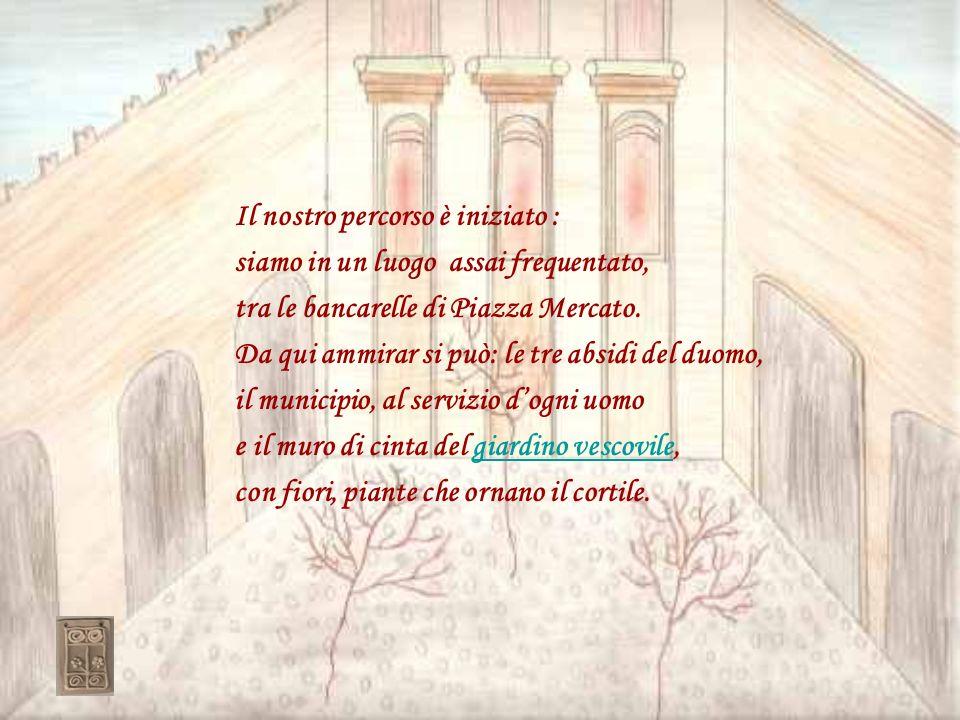 Camminando in Via Cavour è doveroso menzionare il Teatro alle Vigne che vi invita ad entrare; un tempo fu una chiesa, poi una palestra e noi qui ogni anno con la nostra maestra un simpatico spettacolo allestiamo e da bravi attori … quanti applausi riceviamo!attori