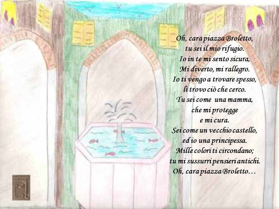 Versi tratti da una poesia che Ada Negri ha dedicato alla contrada di San Francesco in Lodi Se de la patria il giovanile e fresco disio sale al mio cor come un incenso, tutta bianca nel sole io ti ripenso piazza di San Francesco.