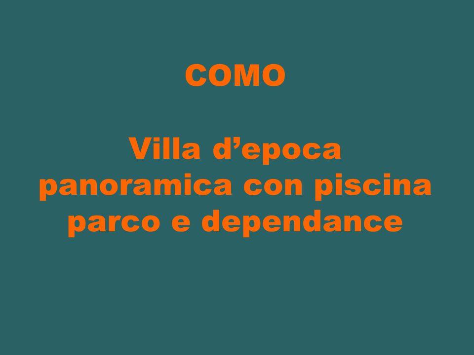 COMO Villa depoca panoramica con piscina parco e dependance