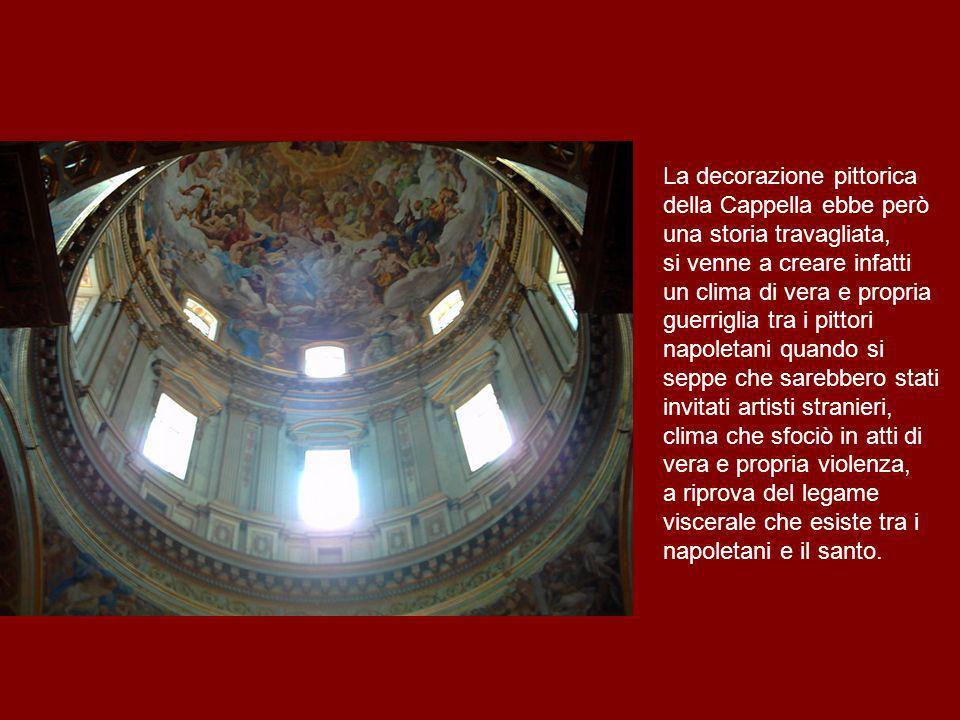 La decorazione pittorica della Cappella ebbe però una storia travagliata, si venne a creare infatti un clima di vera e propria guerriglia tra i pittor