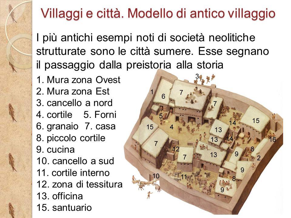 I più antichi esempi noti di società neolitiche strutturate sono le città sumere.