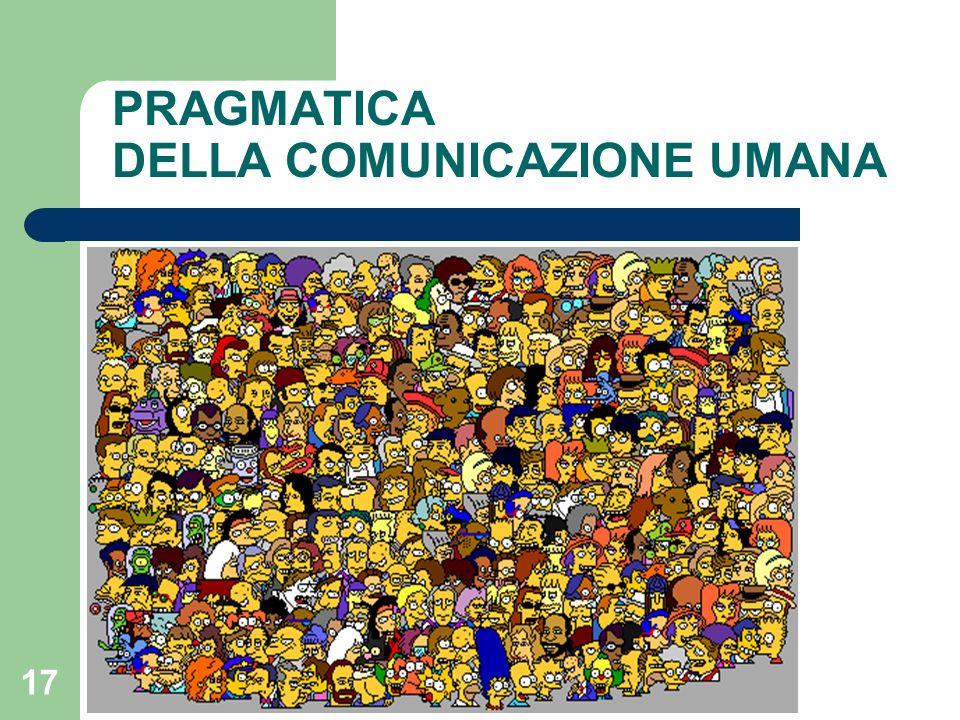 17 PRAGMATICA DELLA COMUNICAZIONE UMANA