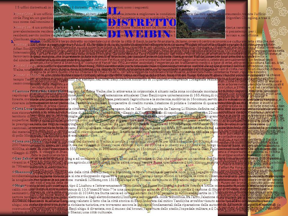 22/04/2014 Antonio Celeri14 IL DISTRETTO DI WEIBIN 3.Weibin 3.Weibin costituisce il terzo distretto occidentale cui si divide la città di Baoji,la par