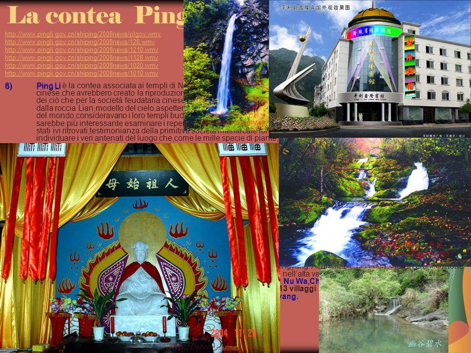 22/04/2014 Antonio Celeri6 La contea Ping Li http://www.pingli.gov.cn/shiping/2008news/plgov.wmv http://www.pingli.gov.cn/shiping/2008news/128.wmv http://www.pingli.gov.cn/shiping/2008news/1210.wmv http://www.pingli.gov.cn/shiping/2008news/1128.wmv http://www.pingli.gov.cn/shiping/2008news/1020.wmv http://www.pingli.gov.cn/shiping/2008news/1010.wmv http://www.pingli.gov.cn/shiping/2008news/plgov.wmv http://www.pingli.gov.cn/shiping/2008news/128.wmv http://www.pingli.gov.cn/shiping/2008news/1210.wmv http://www.pingli.gov.cn/shiping/2008news/1128.wmv http://www.pingli.gov.cn/shiping/2008news/1020.wmv http://www.pingli.gov.cn/shiping/2008news/1010.wmv 6)Ping Li 6)Ping Li è la contea associata ai templi di Nu Wa,collocati a sud della catena di Daba,le due grandi divinità antiche del culto cinese,che avrebbero creato la riproduzione degli esseri umani,attraverso laccoppiamento del fratello e della sorella degli dei,ciò che per la società feudataria cinese millenaria era considerato peccato di incesto,sicchè i discendenti di Nu Wa,che dalla roccia Lian,modello del cielo,aspetterebbero,in corrispondenza delle inondazioni,il cosiddetto Tianzhu,ovvero la fine del mondo,consideravano i loro templi buddisti,ai tempi della dinastia Tang e Song,staccati dal culto del Nu Wa.