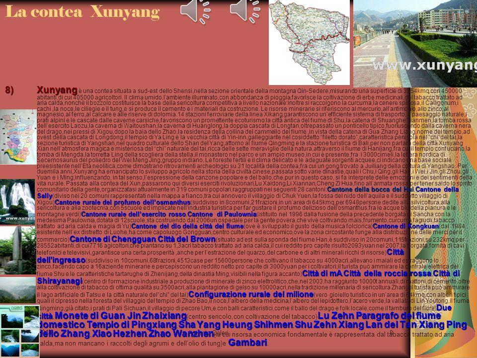 22/04/2014 Antonio Celeri8 8)Xunyang Cantone della bocca del HuiCantone della Sally Cantone rurale del profumo dellosmanthus Cantone rurale delleserci