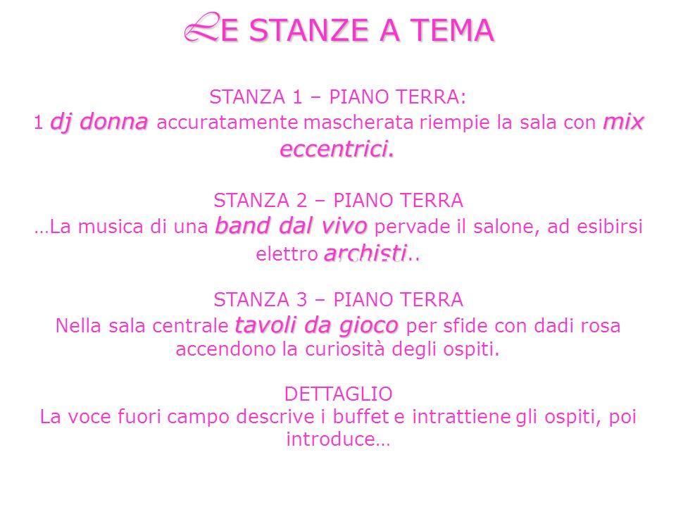 STANZA 1 – PIANO TERRA: dj donnamix eccentrici.