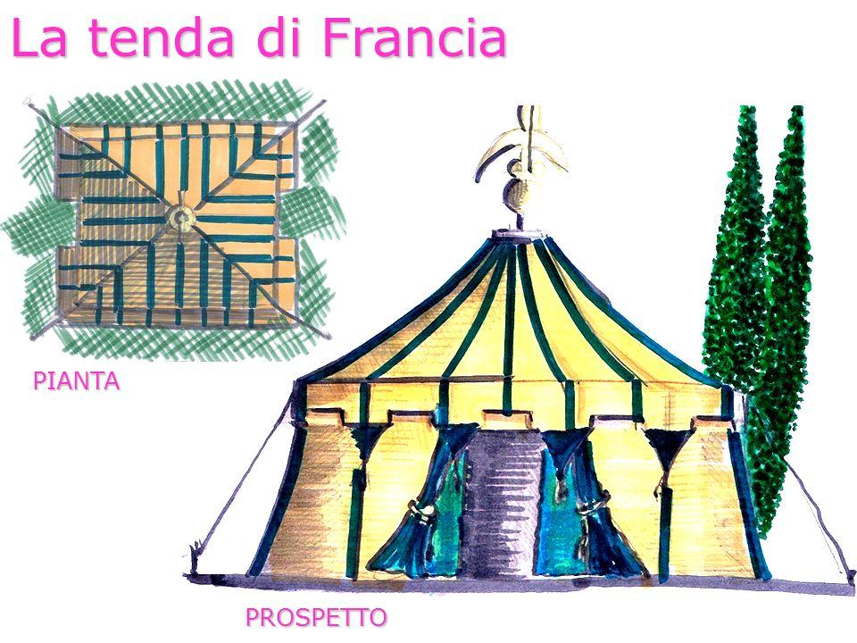 La tenda di Francia PIANTA PROSPETTO