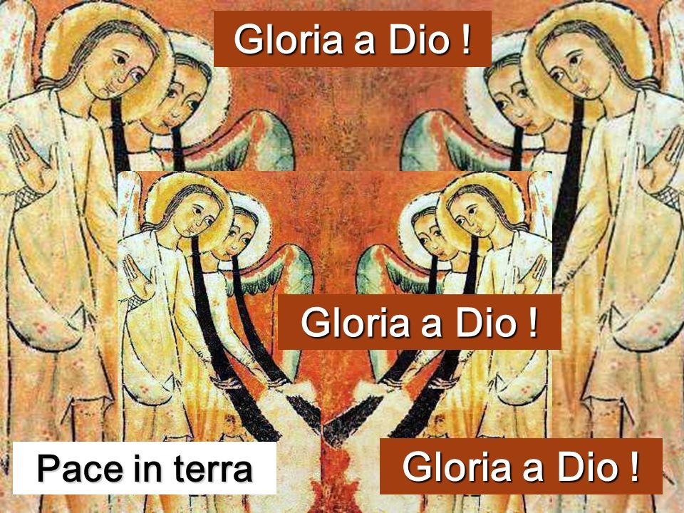 E subito apparve con langelo una moltitudine dellesercito celeste, che lodava Dio e diceva: «Gloria a Dio nel più alto dei cieli e sulla terra PACE ag
