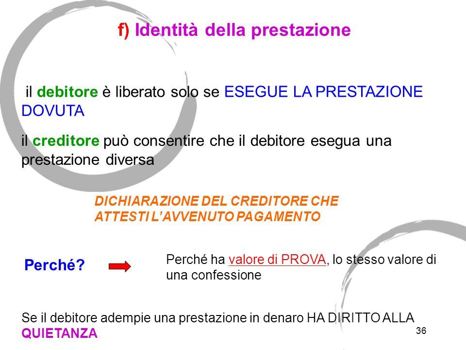 e) Persona destinataria della prestazione -al rappresentante del creditore; -Alla persona indicata dal creditore; -Alla persona autorizzata dalla legg
