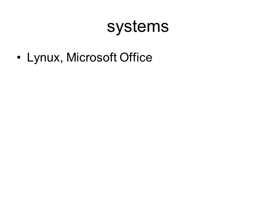 systems Lynux, Microsoft Office