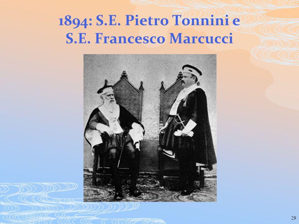 29 1894: S.E. Pietro Tonnini e S.E. Francesco Marcucci