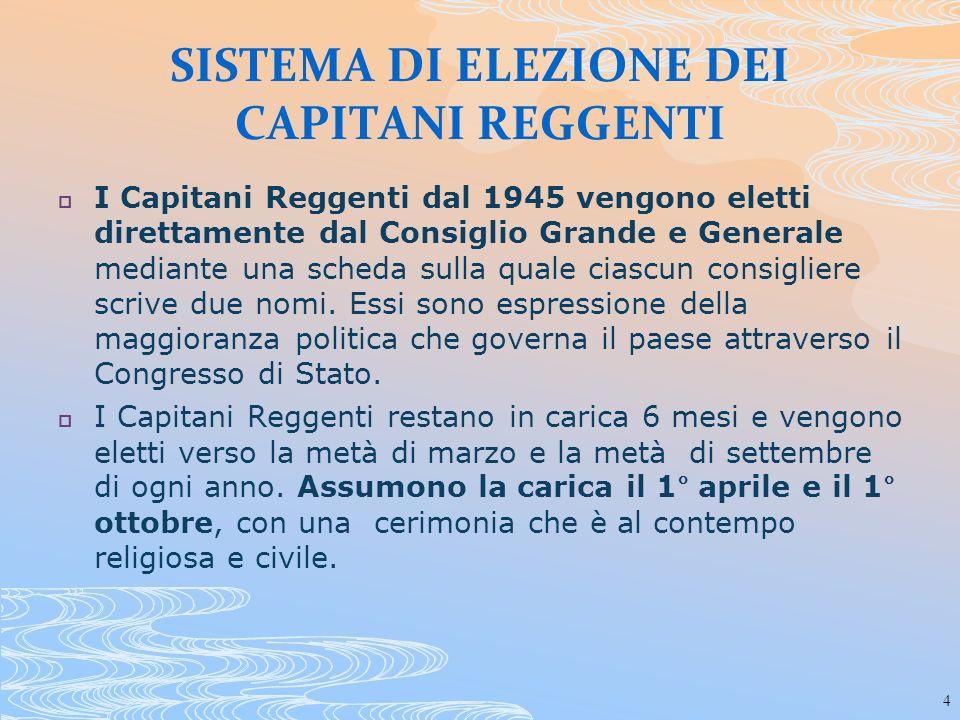 45 Dopo Maria Lea Pedini altre nove donne hanno assunto la carica di Capitano Reggente S.E.