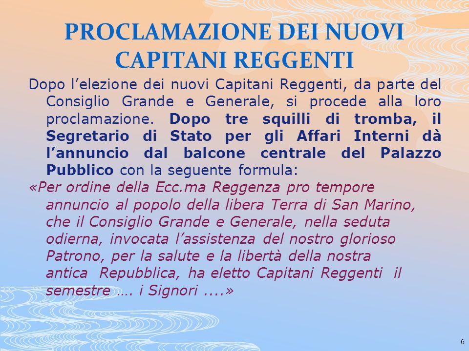 37 Settembre 1944: gli alleati incontrano la Reggenza Il Capitano Reggente S.