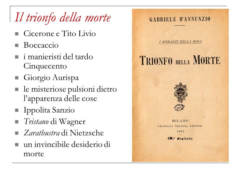 Il trionfo della morte Cicerone e Tito Livio Boccaccio i manieristi del tardo Cinquecento Giorgio Aurispa le misteriose pulsioni dietro lapparenza del