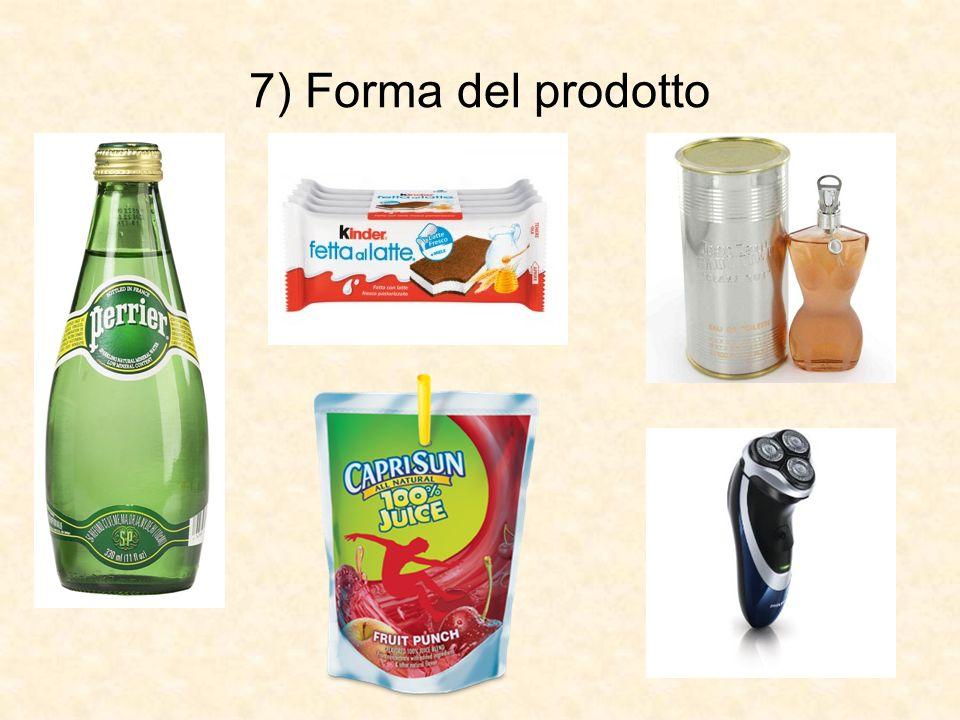 7) Forma del prodotto