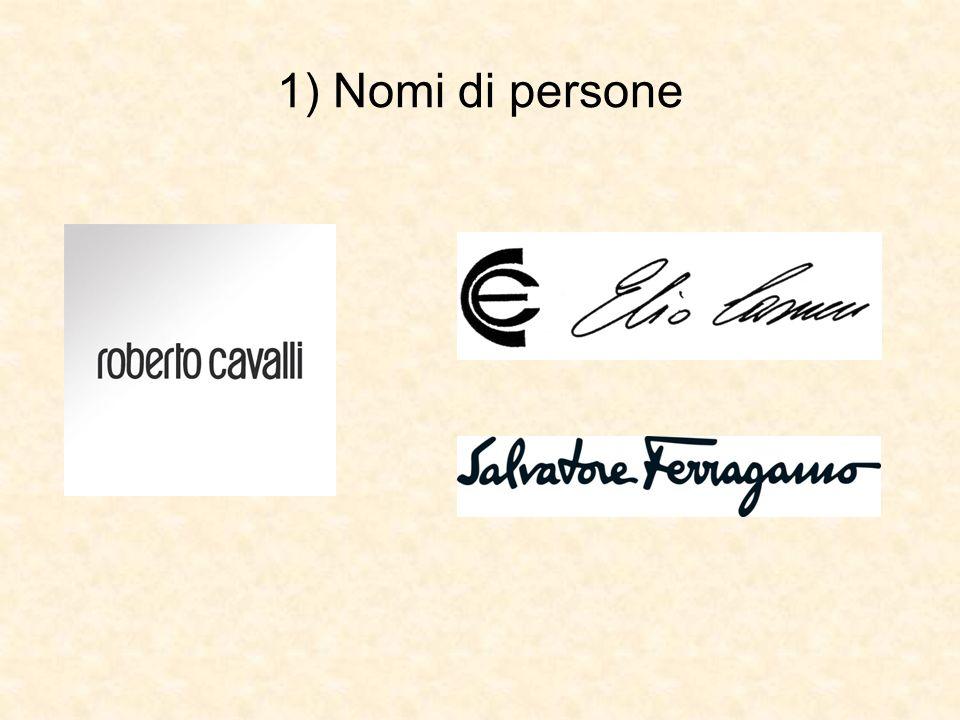 1) Nomi di persone