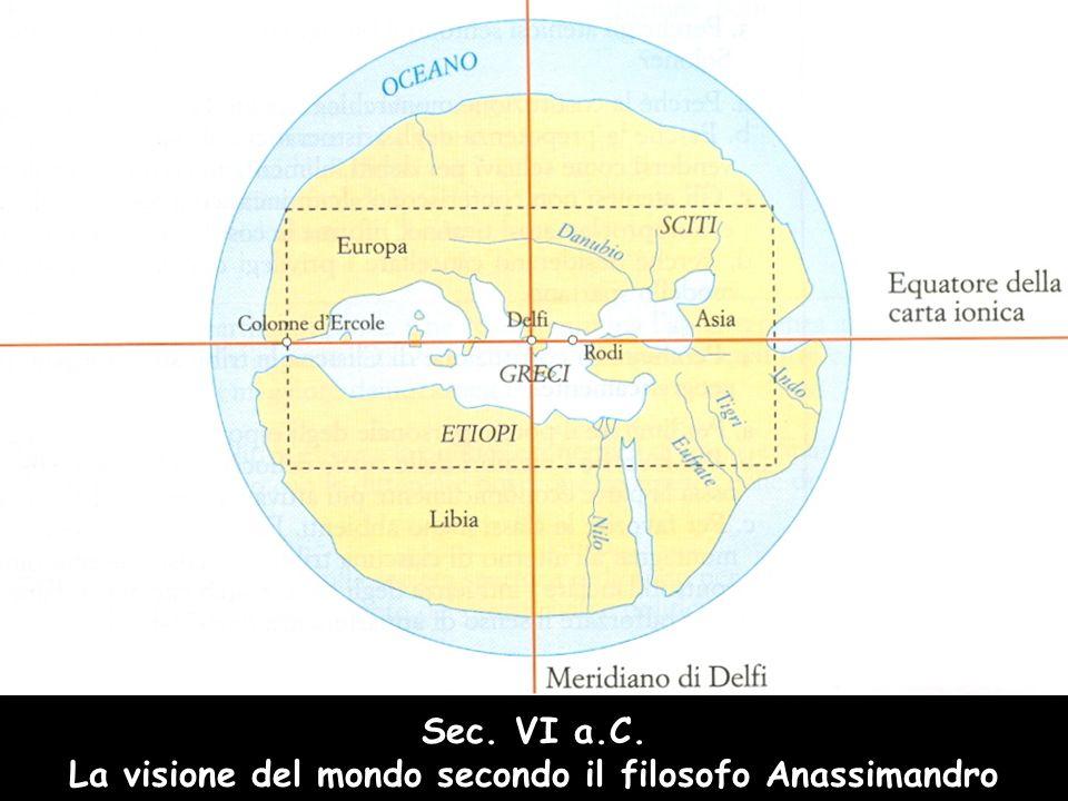 Sec. VI a.C. La visione del mondo secondo il filosofo Anassimandro