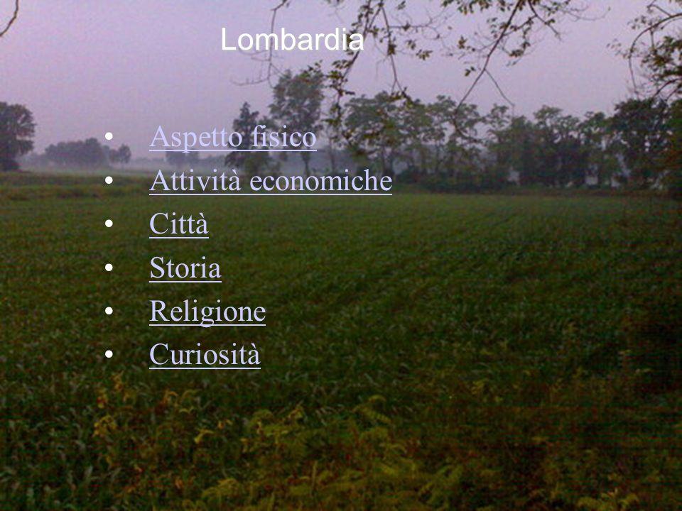Aspetto fisico Attività economiche Città Storia Religione Curiosità Lombardia