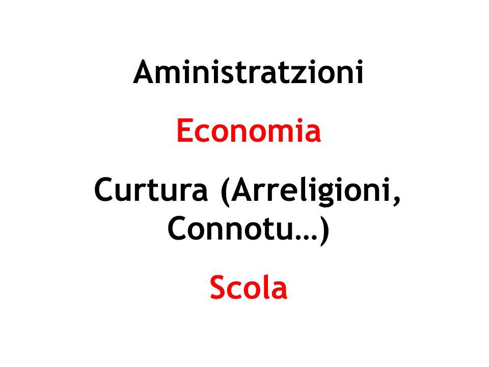 Aministratzioni Economia Curtura (Arreligioni, Connotu…) Scola