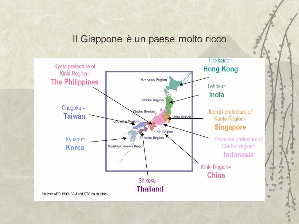 Il Giappone è un paese molto ricco