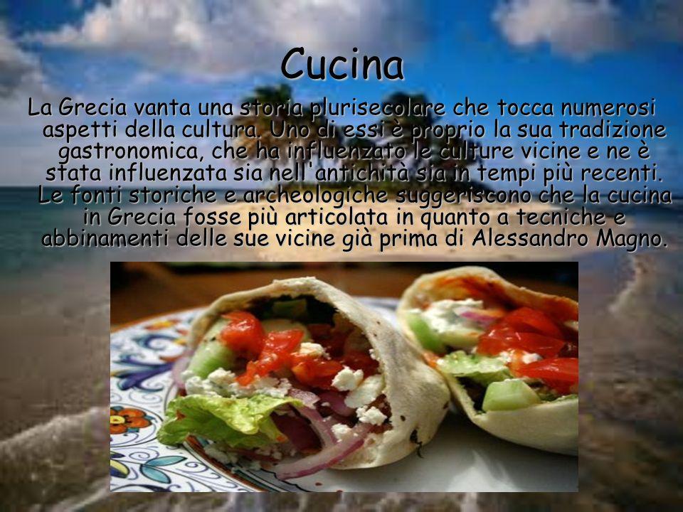 Cucina La Grecia vanta una storia plurisecolare che tocca numerosi aspetti della cultura. Uno di essi è proprio la sua tradizione gastronomica, che ha