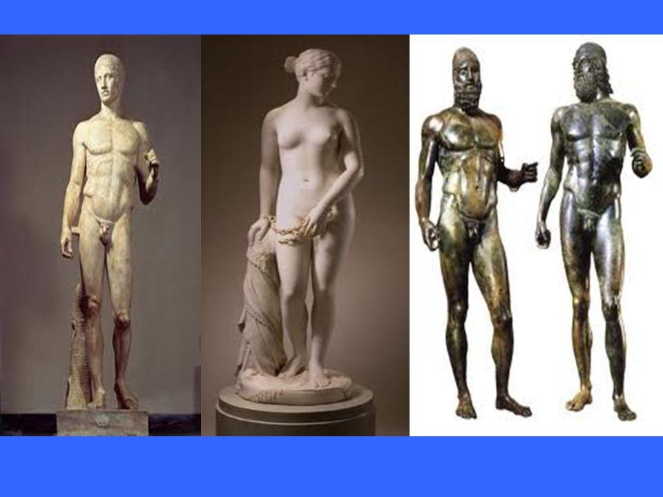 La scultura La scultura è probabilmente l'aspetto più conosciuto dell'arte greca, quello che per un contemporaneo meglio esprime il bello ideale e la