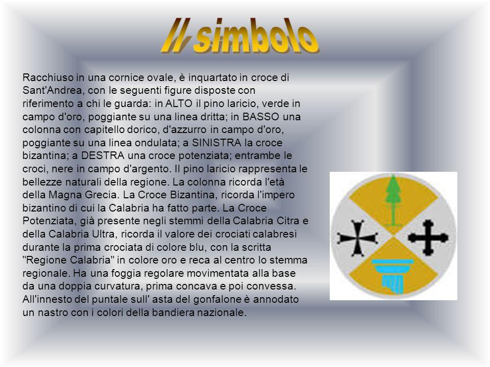 Racchiuso in una cornice ovale, è inquartato in croce di Sant'Andrea, con le seguenti figure disposte con riferimento a chi le guarda: in ALTO il pino