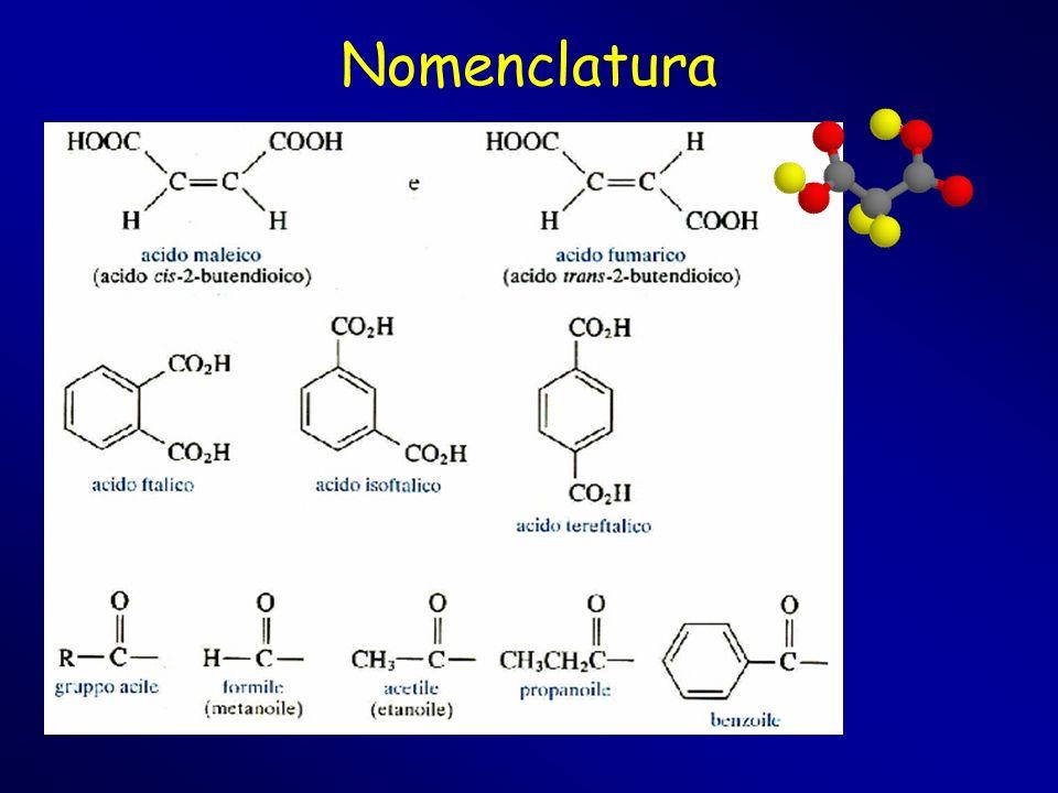 Acidi carbossilici e derivati Ammidi Sono estremamente diffuse in natura e sono, tra i derivati degli acidi carbossilici, i composti meno reattivi.