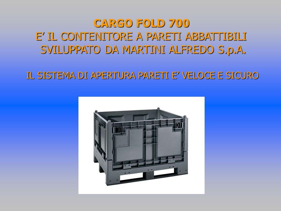 CARGO FOLD 700 E IL CONTENITORE A PARETI ABBATTIBILI SVILUPPATO DA MARTINI ALFREDO S.p.A.