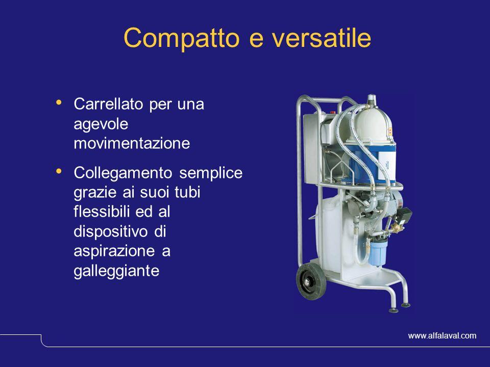 www.alfalaval.com © Alfa LavalSlide 12 Compatto e versatile Carrellato per una agevole movimentazione Collegamento semplice grazie ai suoi tubi flessi