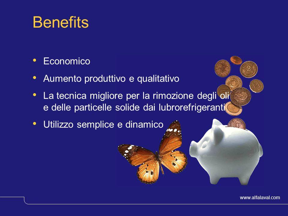www.alfalaval.com © Alfa LavalSlide 19 Benefits Economico Aumento produttivo e qualitativo La tecnica migliore per la rimozione degli oli e delle part