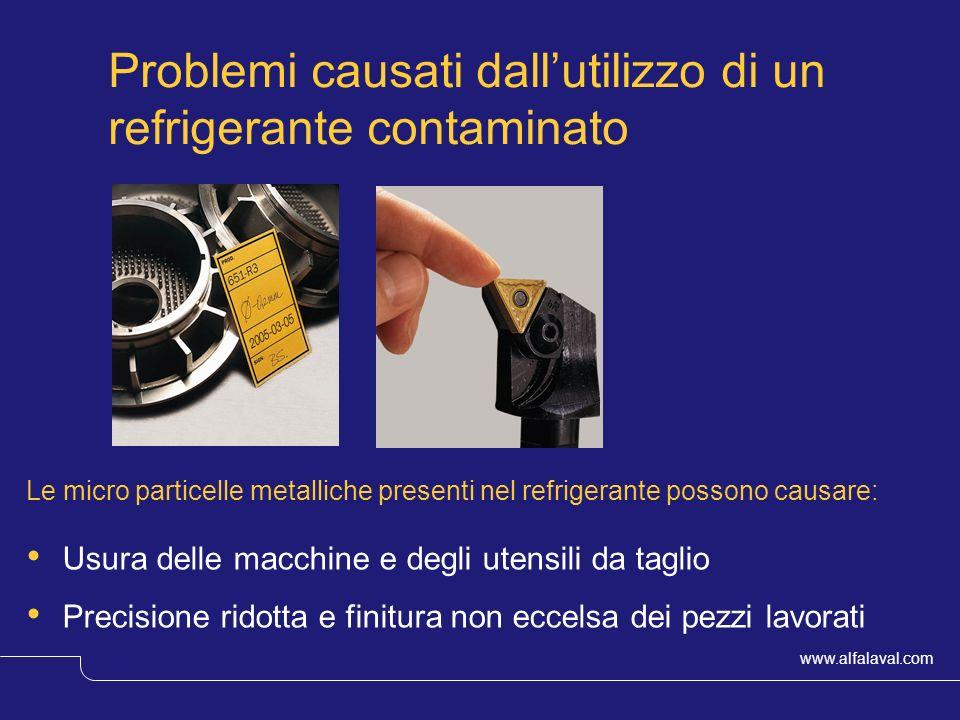 www.alfalaval.com © Alfa LavalSlide 5 Problemi causati dallutilizzo di un refrigerante contaminato Le micro particelle metalliche presenti nel refrige