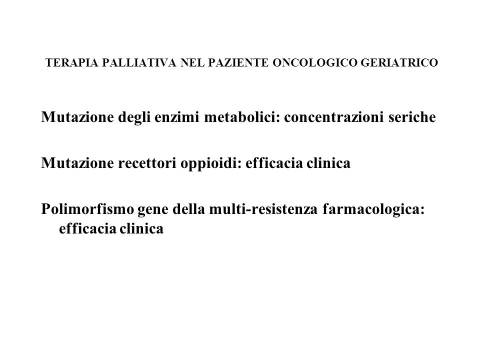 Gli adiuvanti nel dolore neurogeno da cancro Triciclici : Nel dolore neurogeno continuo e in quello lancinante Antiepilettci : Nel dolore neuropatico periferico lancinante Gabapentina: Plessopatie, dolore neurogeno centrale, sindrome da arto fantasma Lamotrigina : Dolore da deafferentazione centrale ( intermittente e continuo ) Steroidi : Dolore da compressione nervosa periferica e da compressione peridurale del midollo spinale