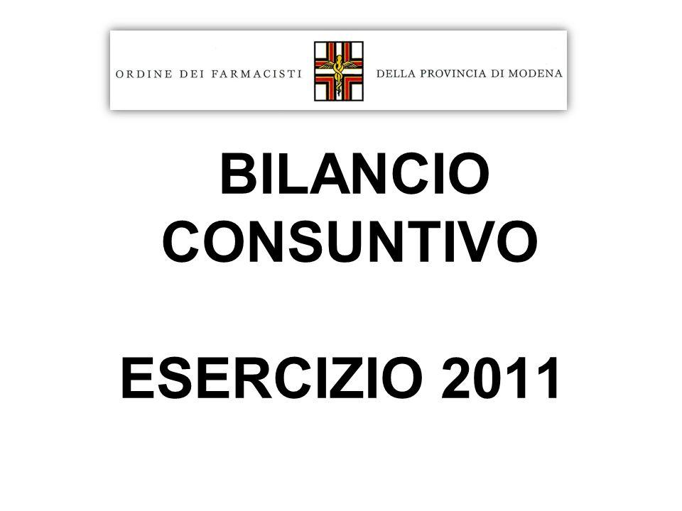 BILANCIO CONSUNTIVO ESERCIZIO 2011