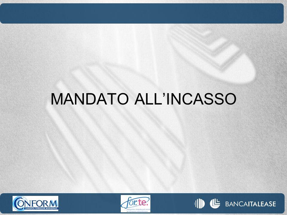 MANDATO ALLINCASSO