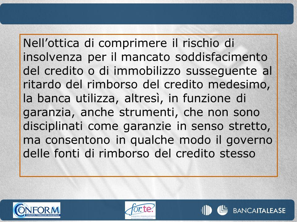 Il fidejussore viene segnalato alla Centrale dei Rischi tenuta presso la Banca dItalia ed alla Centrale dei rischi di importo contenuto.