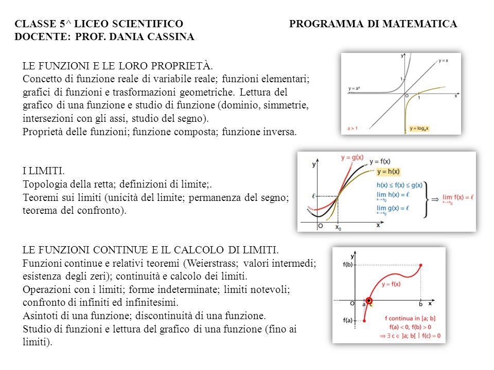 LE FUNZIONI E LE LORO PROPRIETÀ. Concetto di funzione reale di variabile reale; funzioni elementari; grafici di funzioni e trasformazioni geometriche.
