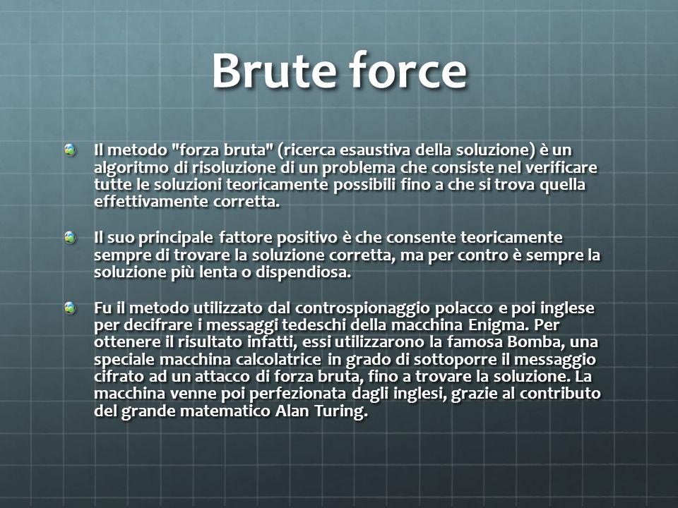 Brute force Il metodo